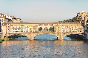 Ponte Vecchio a Firenze, Italia foto