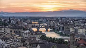 panorama della città di firenze, italia foto