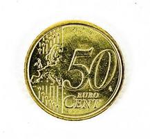 Moneta da 50 centesimi di euro fronte foto