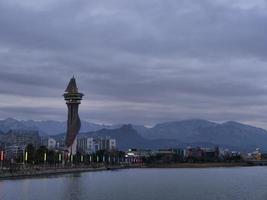 torre espositiva nella città di sokcho. Corea del Sud foto