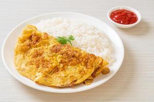 frittata o frittata con riso foto