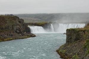 la cascata Godafoss, Islanda foto