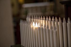 candele elettriche con funzione di montaggio foto