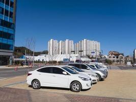villaggio olimpico. città di gangneung, corea del sud foto