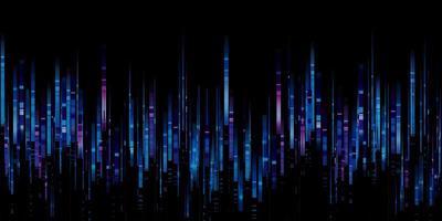 spettro di frequenza delle onde sonore blu foto