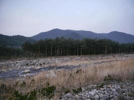 fiume di montagna nelle montagne di seoraksan. Corea del Sud foto