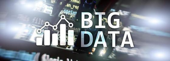 server di analisi dei big data. internet e tecnologia. foto