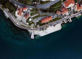 st. matteo chiesa, st. mateja chiesa a dobrota, parte della città vecchia di kotor in montenegro. foto