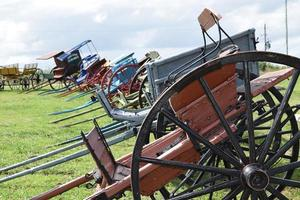 vecchie carrozze con cavalli foto