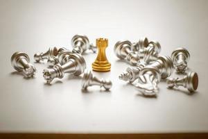 vittoria della partita a scacchi, concetto di successo aziendale foto