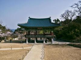 edificio tradizionale coreano nel tempio naksansa, corea del sud foto