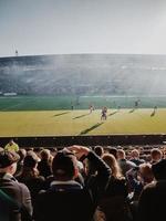helsinki, finlandia 2019- partita di calcio allo stadio foto