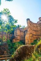 pha chor o il grand canyon chiangmai nel parco nazionale di mae wang, chiang mai, thailandia foto
