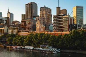 skyline della città di melbourne a victoria, australia foto