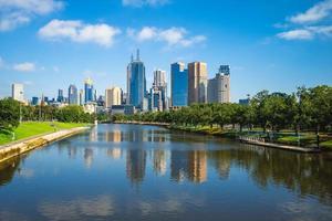 skyline di melbourne, victoria, australia foto