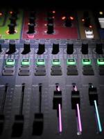 primo piano del mixer foto