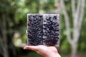 colata di resina epossidica stabilizzante pigna foto