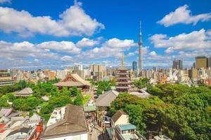 vista aerea della città di tokyo, giappone foto