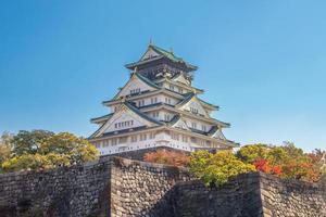 castello di osaka a osaka, kansai, giappone foto