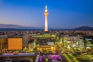 skyline di kyoto in giappone foto