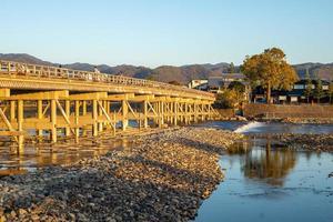 togetsukyo moon cross bridge ad arashiyama a kyoto, giappone foto
