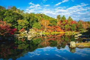 sogenchi teien nel tempio tenryuji ad arashiyama, kyoto, giappone foto