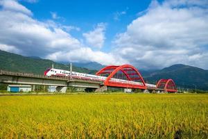 treno a yuli, hualien, taiwan foto