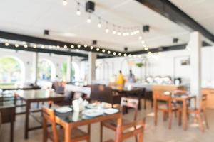 sfocatura astratta ristorante interno foto