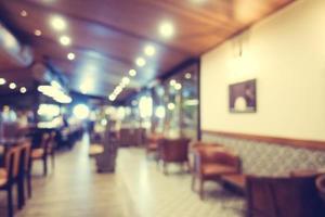 sfocatura astratta caffetteria e ristorante foto
