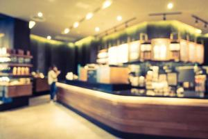 sfocatura astratta e ristorante sfocato e interni del caffè foto
