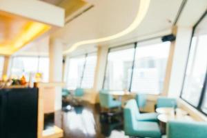 sfocatura astratta e interni sfocati della caffetteria e del ristorante foto