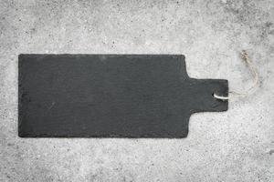 ardesia su sfondo di pietra nera foto