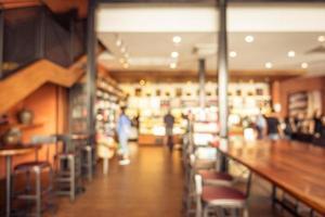 sfocatura caffetteria e ristorante foto