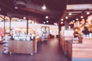 sfocatura astratta e interno del caffè della caffetteria per lo sfondo foto