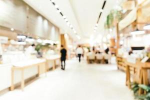 sfocatura astratta e interni sfocati della caffetteria e del ristorante per lo sfondo foto