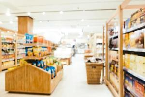 sfocatura astratta e supermercato sfocato foto
