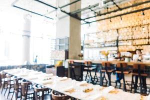 ristorante sfocatura astratta foto