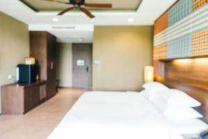 sfocatura astratta e decorazione sfocata nell'interno della camera da letto dell'hotel foto