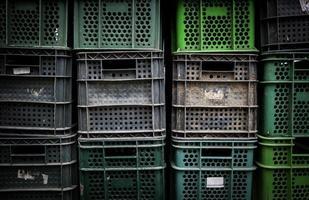 scatole di frutta in plastica foto