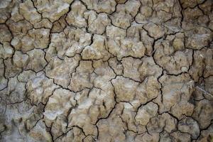 muro di fango incrinato foto