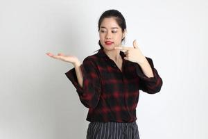 donna in studio foto