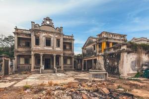 rovina di una casa in stile occidentale a kinmen, taiwan foto