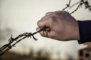 immigrazione di filo spinato foto