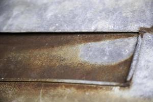 struttura della ruggine sulla parete di metallo foto