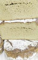 fetta di farina di pane foto