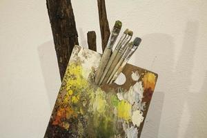 tavolozze di pittura ad olio foto