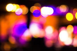 sfondo di illuminazione a colori bokeh foto