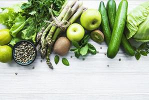 sfondo del concetto di cibo vegetariano sano foto