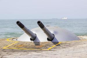 vecchio cannone del forte di copacabana foto