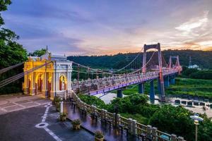 ponte sospeso daxi a taoyuan, taiwan foto